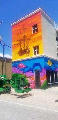 MedBest Office Building Adds Eye Catching Murals With Artist's Flare